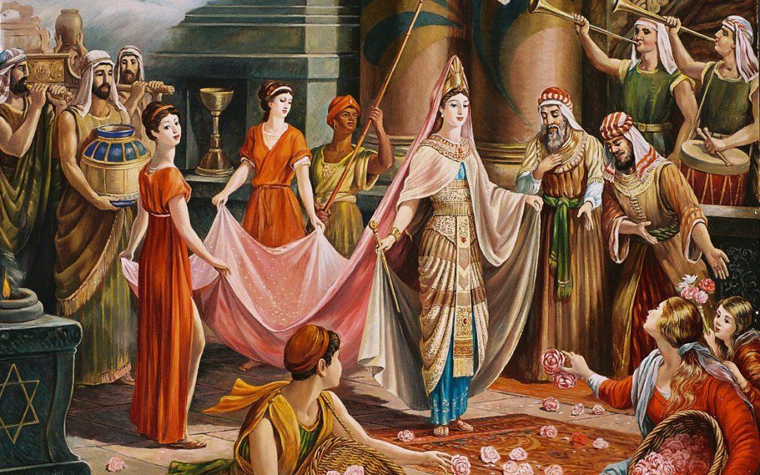De koningin van Sheba, een rijke vrouw.