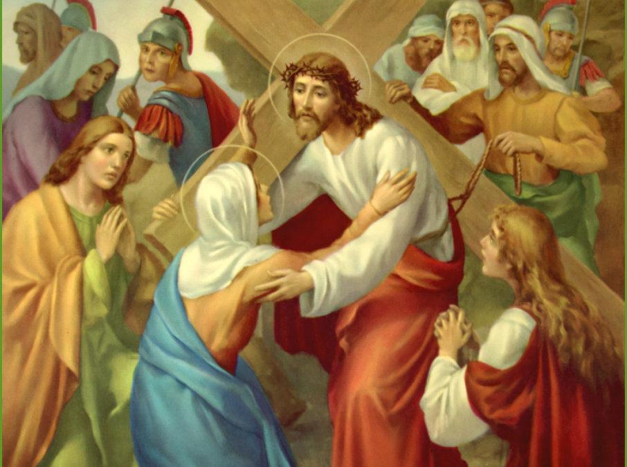 Jezus troost de wenende vrouwen