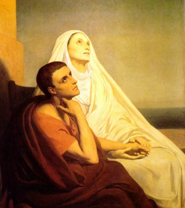 Heilige Monica en volhouden