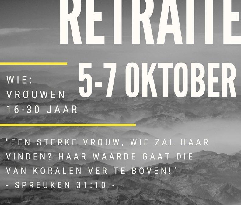 Retraite 5-7 Oktober 2018 – Een Sterke Vrouw